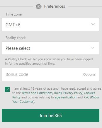 Bet365 Registration Step 05