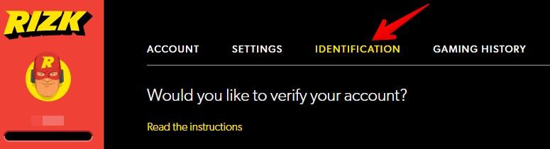 Rizk Casino Account Verification 00