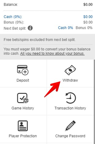 BetWay Withdrawal Method
