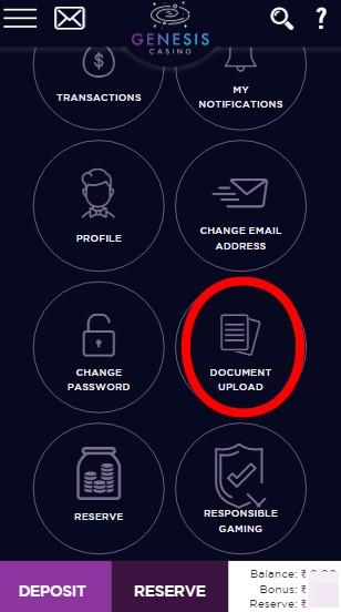 Genesis Casino Account Verification
