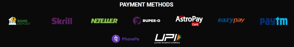 Jeetwin Payment Methods