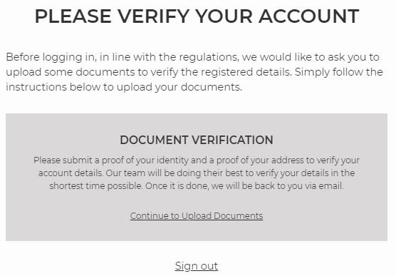 Nyspins Account Verification