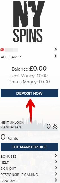 Nyspins Casino Deposit Guide