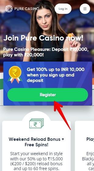 Pure Casino Registration Guide 01