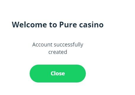Pure Casino Registration Guide 14