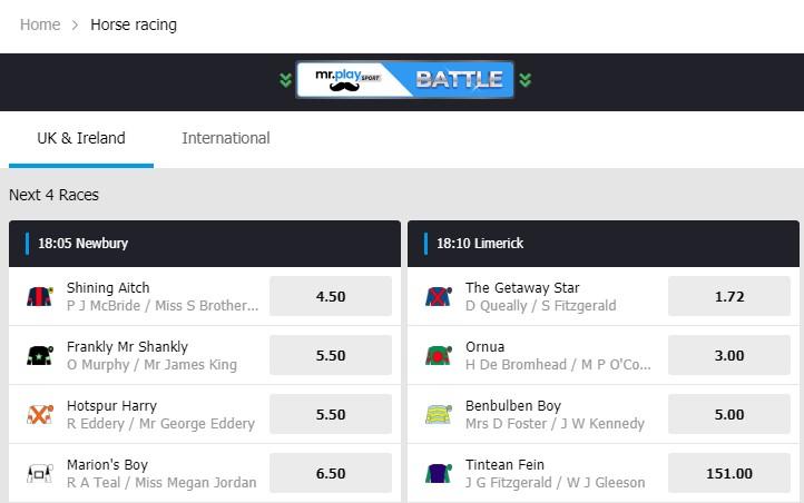 Mr Play Horse Racing Betting
