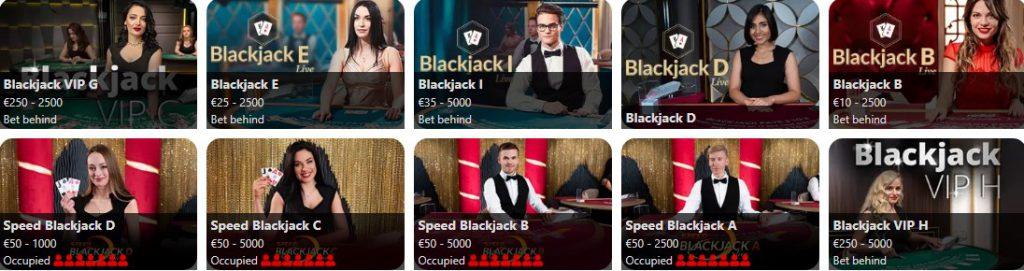 Mr Play Live Blackjack