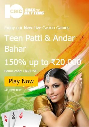 10Cric app Live casino